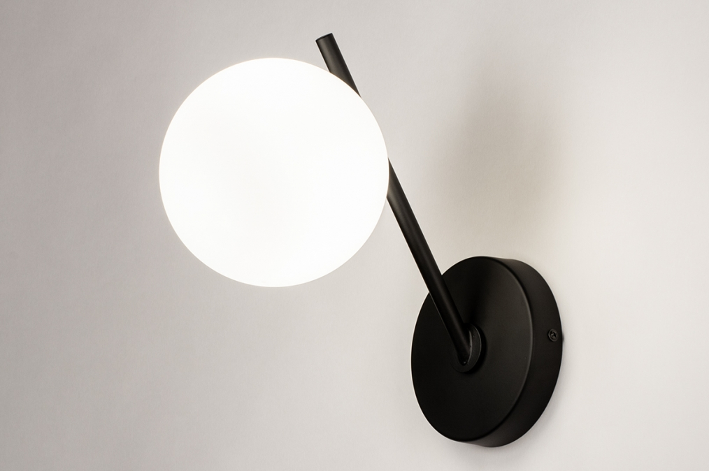 Wandlamp 74260: modern, klassiek, eigentijds klassiek, glas #0