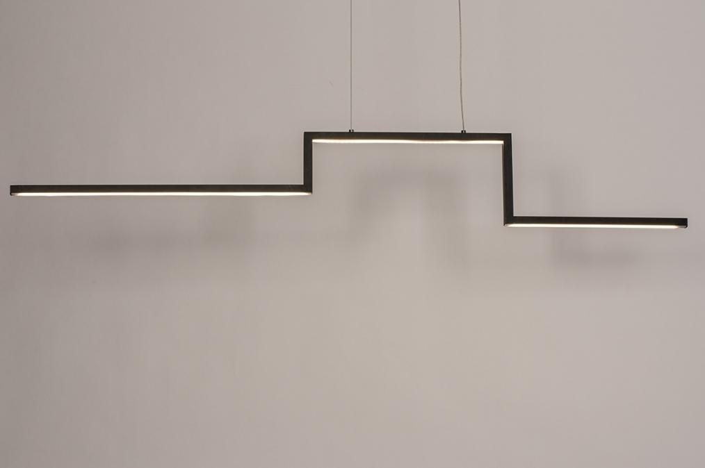 Hanglamp 74276: design, modern, aluminium, zwart #0