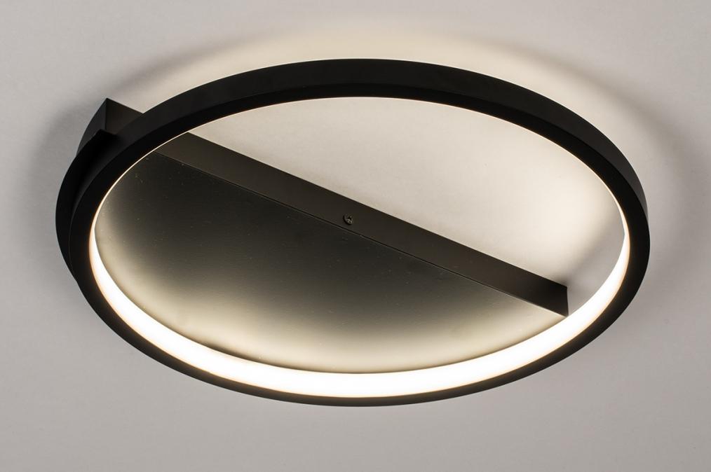 Plafondlamp 74277: design, modern, kunststof, metaal #0
