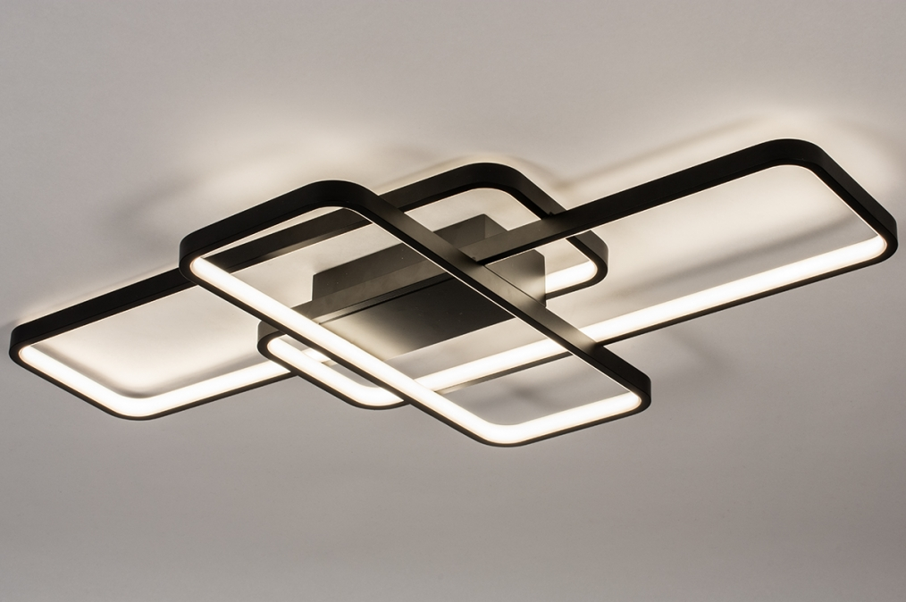 Plafondlamp 74278: design, modern, kunststof, metaal #0