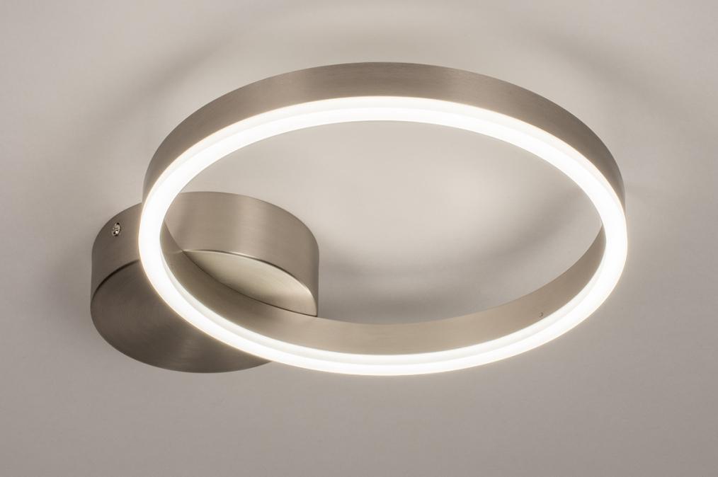 Plafondlamp 74339: design, modern, staal rvs, kunststof #0