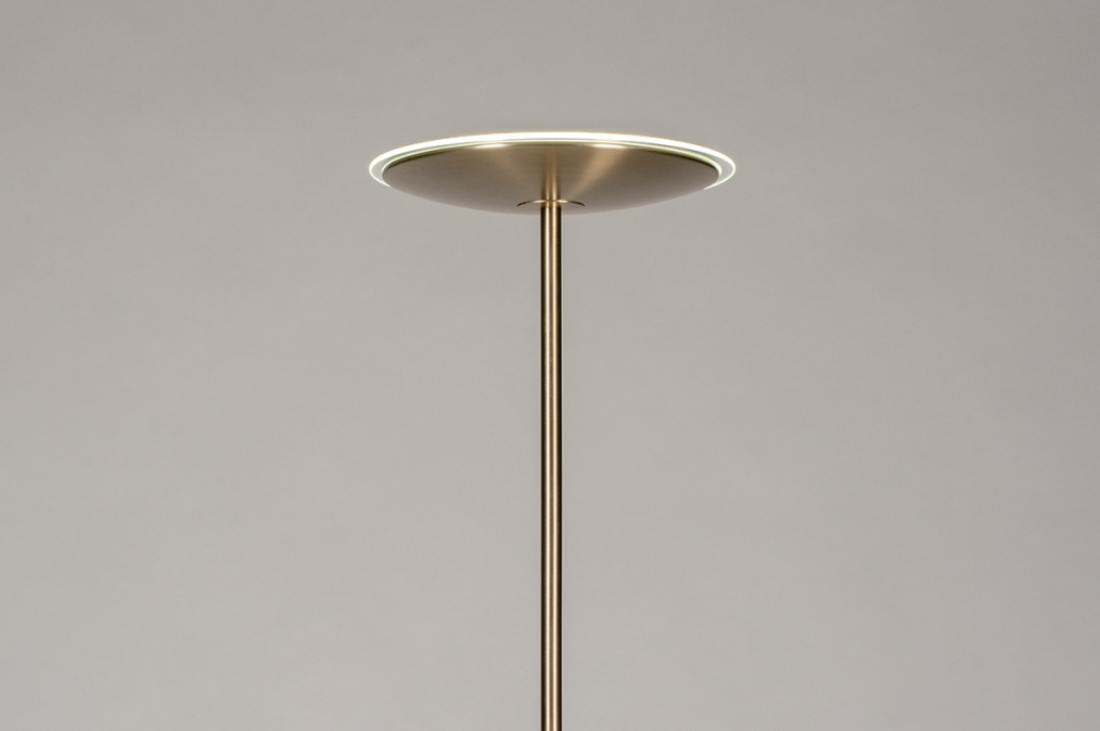 Vloerlamp 74361: modern, klassiek, eigentijds klassiek, messing #0
