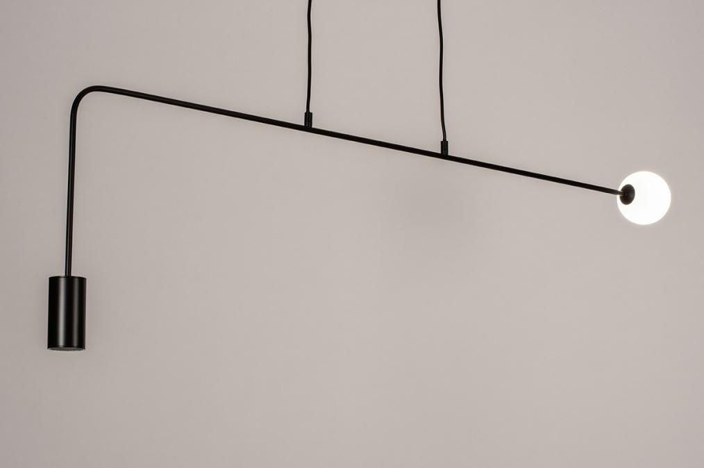 Hanglamp 74378: design, modern, glas, wit opaalglas #0