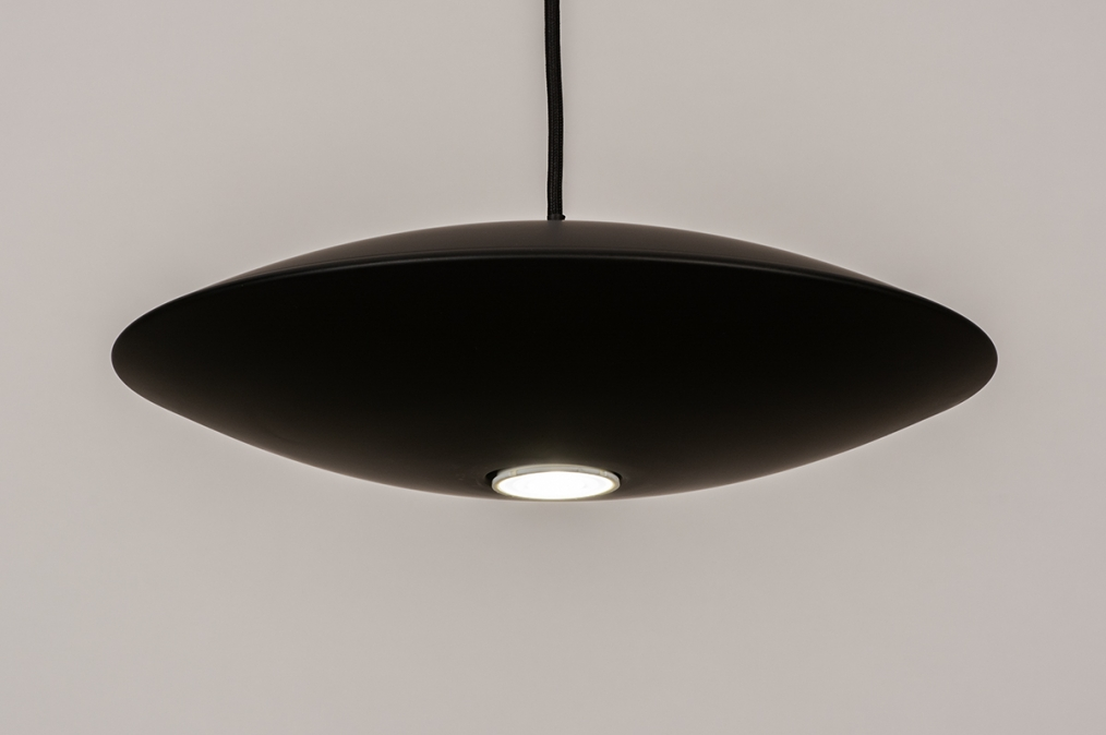 Hanglamp 74380: design, modern, metaal, zwart #0