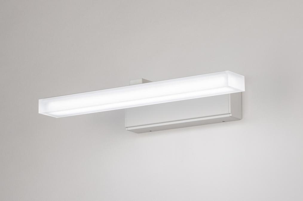 Wandlamp 74404: modern, aluminium, metaal, wit #0