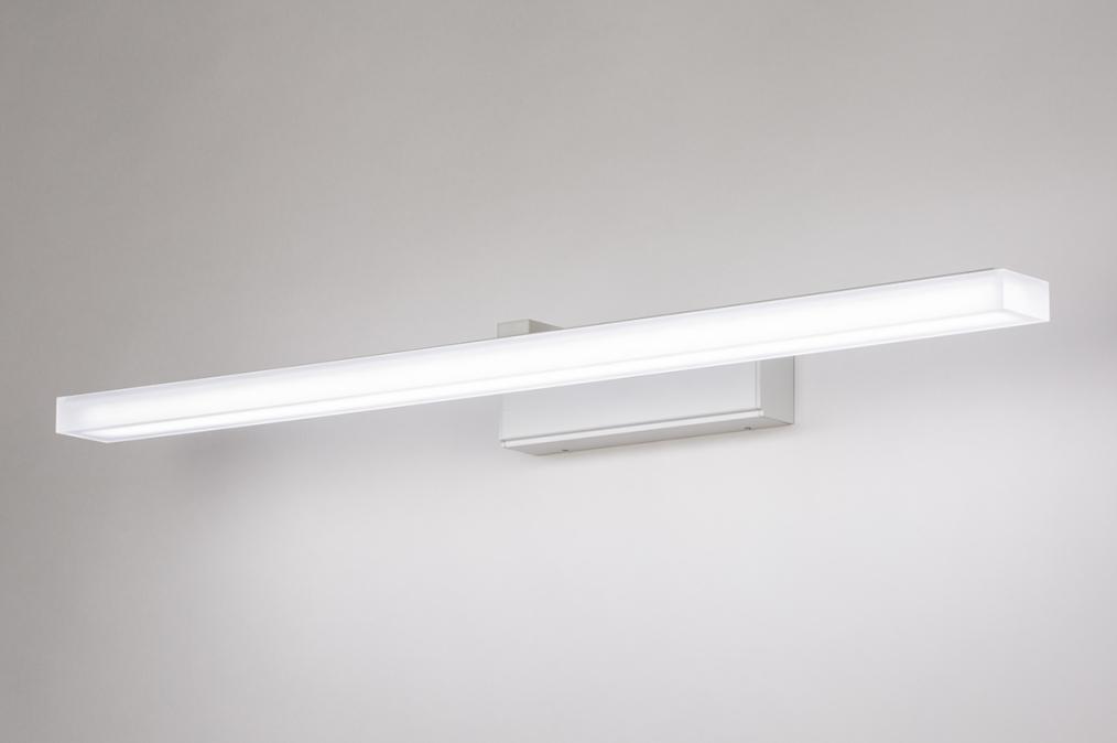 Wandlamp 74405: modern, aluminium, metaal, wit #0