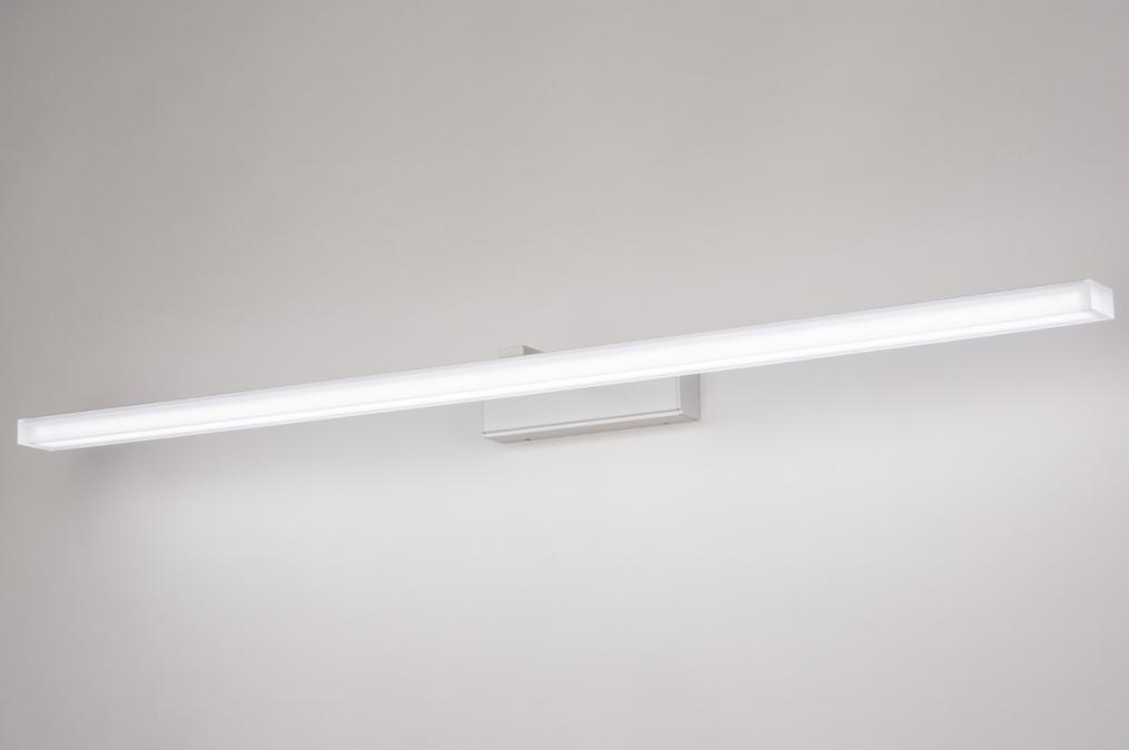 Wandlamp 74406: modern, aluminium, metaal, wit #0