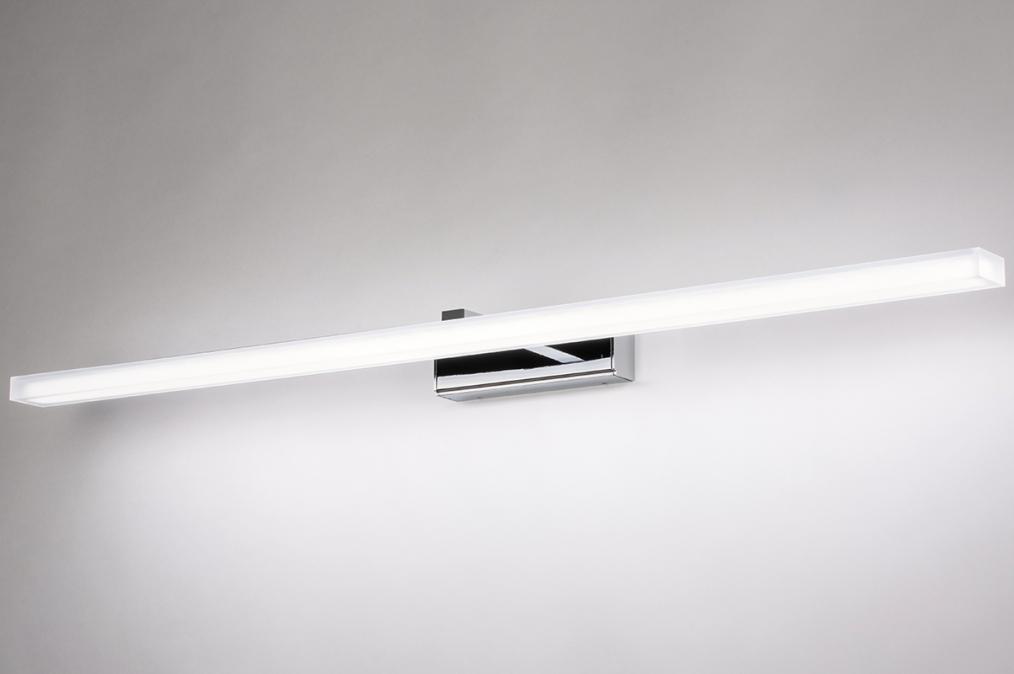 Wandlamp 74409: modern, metaal, chroom, rechthoekig #0