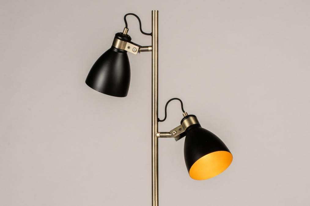 Vloerlamp 74468: modern, retro, eigentijds klassiek, messing #0