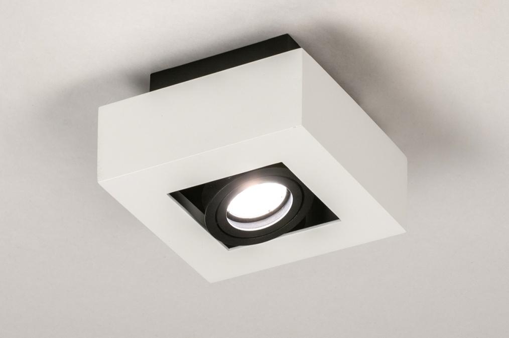 Plafondlamp 74483: design, modern, metaal, zwart #0