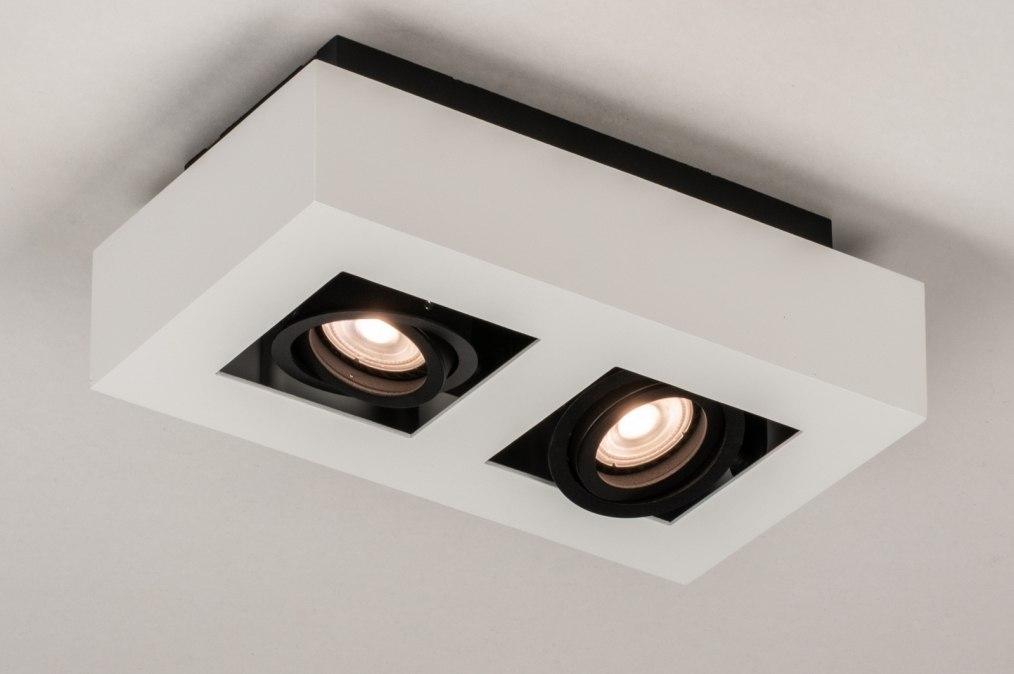 Plafondlamp 74484: design, modern, metaal, zwart #0