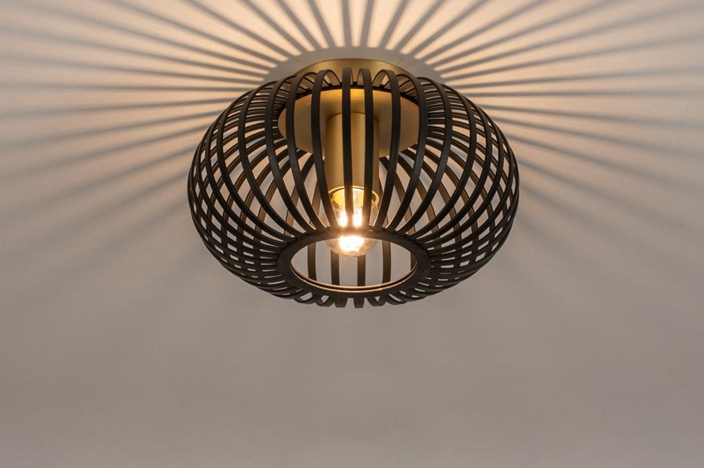 Plafondlamp 74496: modern, retro, eigentijds klassiek, metaal #0