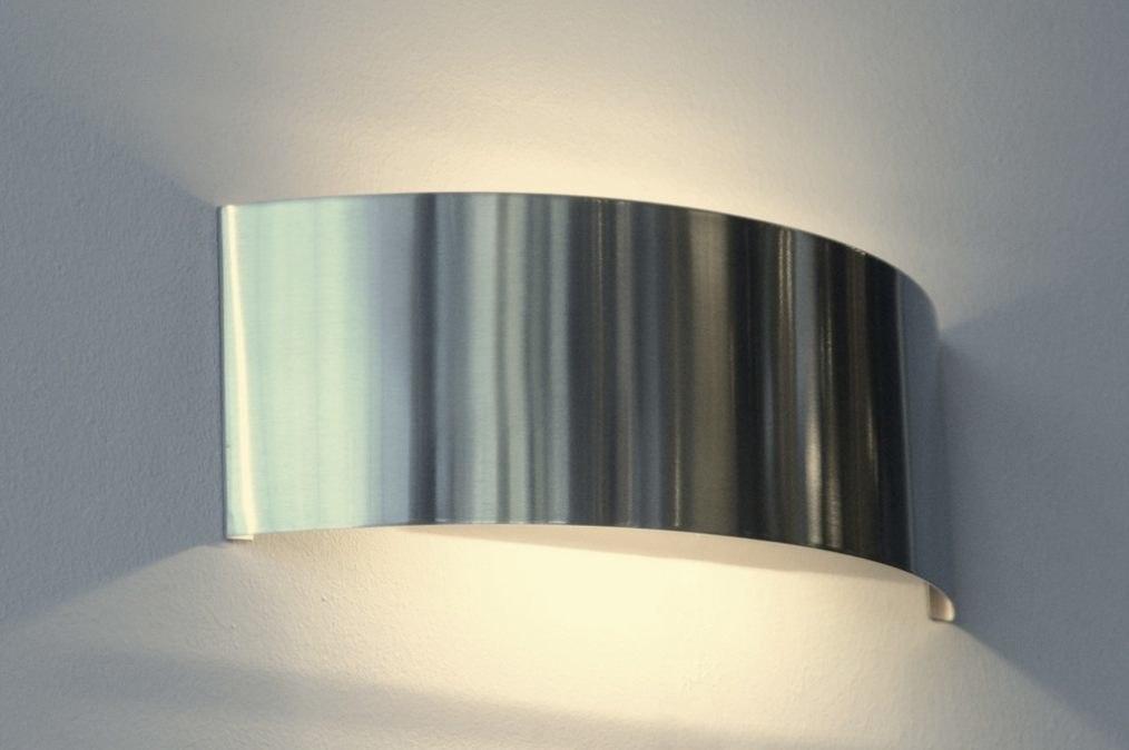 Wandlamp 83866: modern, metaal, staal rvs, rechthoekig #0