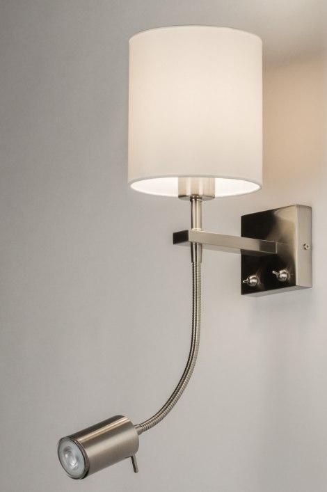 applique murale 84339 moderne classique contemporain blanc etoffe. Black Bedroom Furniture Sets. Home Design Ideas