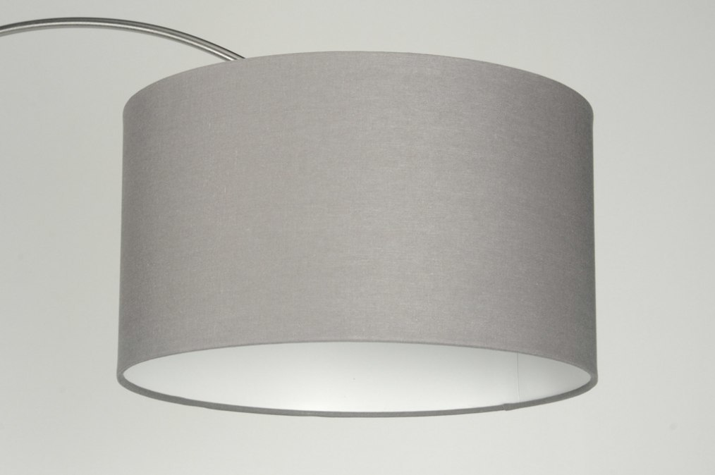 Pendant light 85012: fabric, grey, taupe colored #0