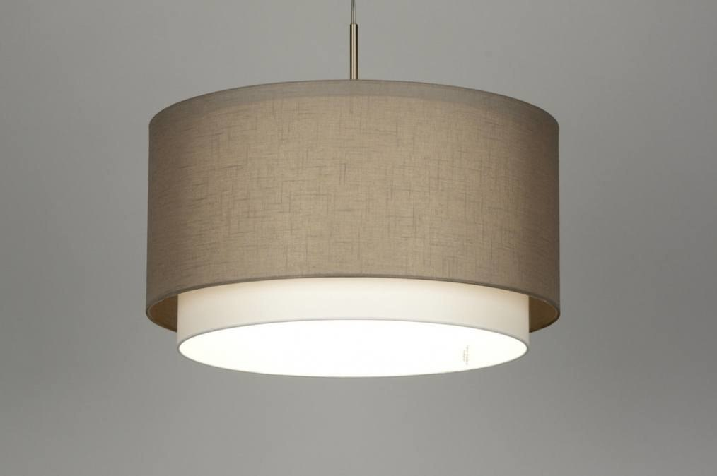 Hanglamp 87189: stof, wit, taupe #0