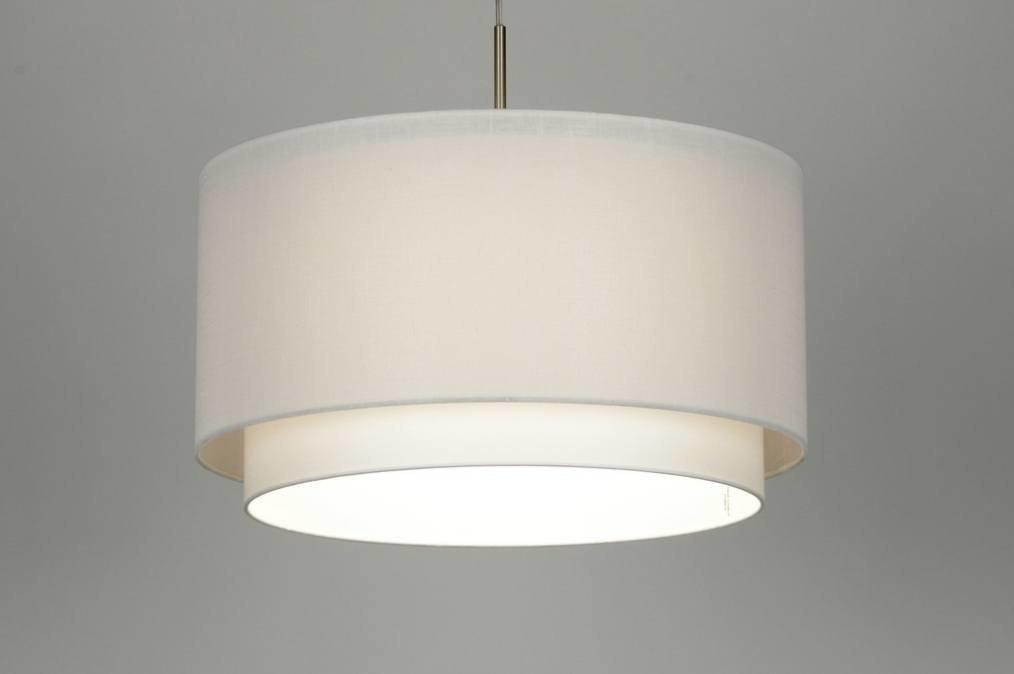 Pendant light 87191: fabric, white #0