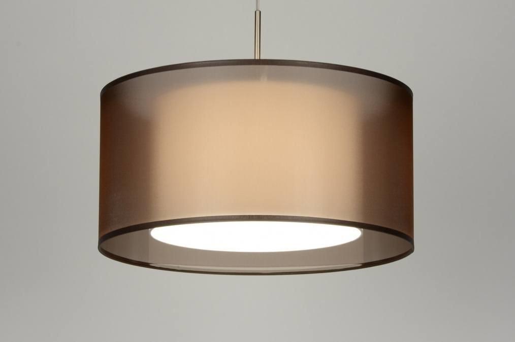Hanglamp 87193: stof, wit, bruin #0