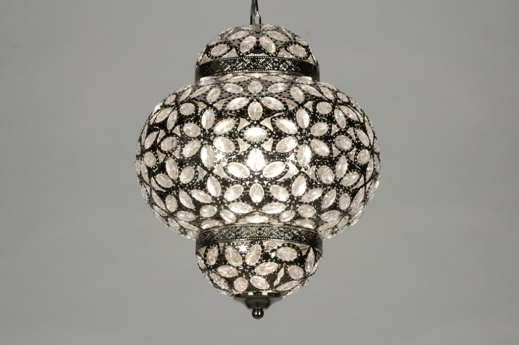 Hanglamp 87590: modern, eigentijds klassiek, kristal, acryl kristal #0
