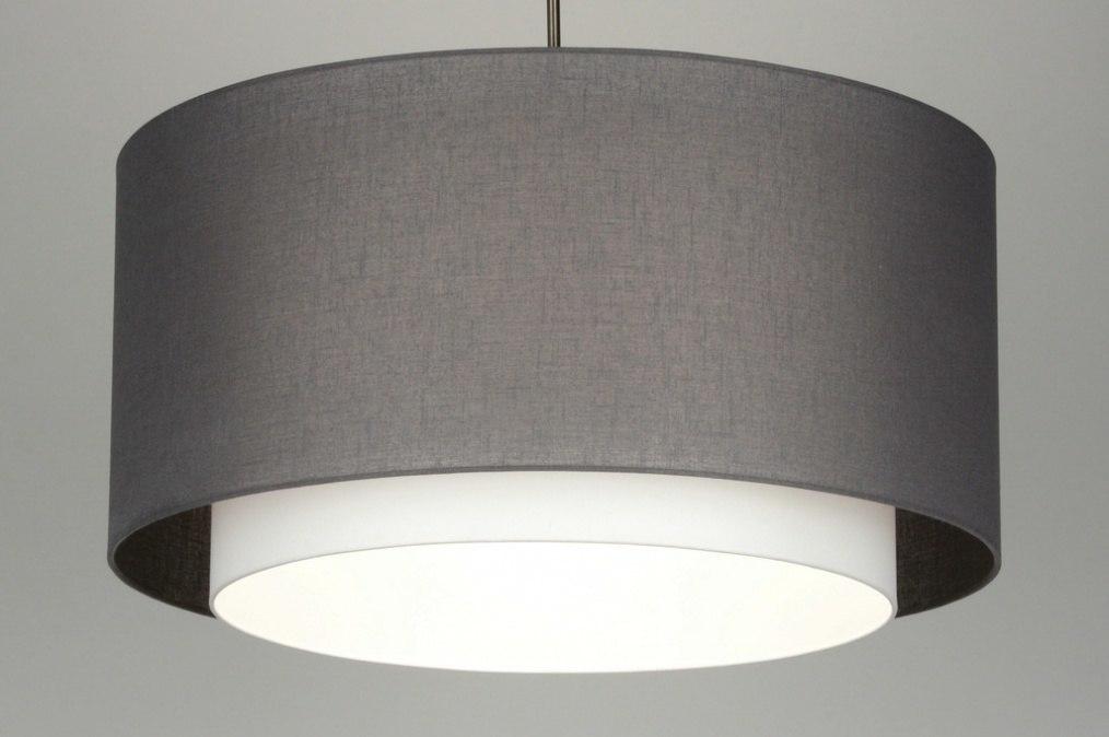 Hanglamp 88546: stof, grijs, taupe #0