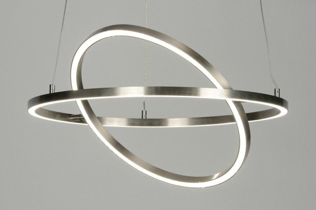 Hanglamp 88734: modern, design, staalgrijs, metaal #0