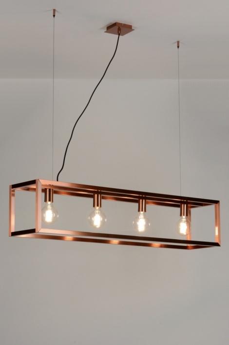 Hanglamp 88905 modern design koper roodkoper - Como hacer lamparas de techo modernas ...