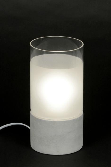Tafellamp 88908: modern, landelijk, rustiek, wit #0