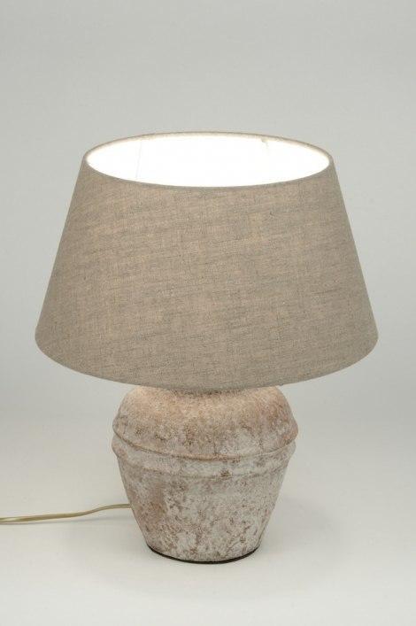 Tafellamp 88920: landelijk, rustiek, eigentijds klassiek, stof #0