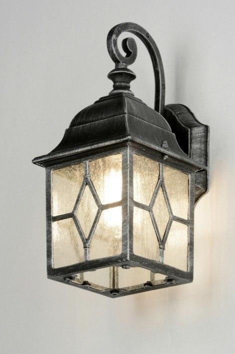 Wandlamp 88943: landelijk rustiek, klassiek, eigentijds klassiek, glas #0