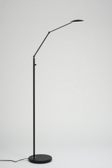 Vloerlamp 89349: modern, design, zwart, mat #0
