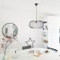 Hanglamp 10136: modern, metaal, zwart, rond #16