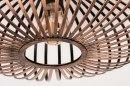 Plafondlamp 12004: modern, eigentijds klassiek, metaal, roest #3