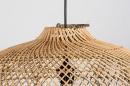 Hanglamp 12464: modern, retro, riet, hout #12