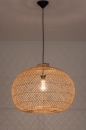 Hanglamp 12464: modern, retro, riet, hout #2