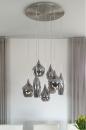 Hanglamp 13152: modern, glas, staal rvs, metaal #16