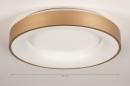 Plafondlamp 13448: modern, eigentijds klassiek, art deco, messing #1
