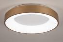 Plafondlamp 13448: modern, eigentijds klassiek, art deco, messing #2