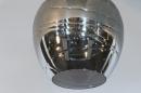 Hanglamp 13513: modern, eigentijds klassiek, glas, metaal #20