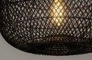 Hanglamp 13568: modern, retro, riet, zwart #6