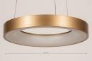 Hanglamp 13606: design, modern, metaal, goud #1