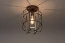 Plafondlamp 13642: industrie, look, landelijk, rustiek #1