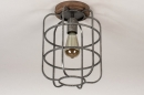 Plafondlamp 13642: industrie, look, landelijk, rustiek #3