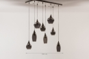 Hanglamp 13688: modern, eigentijds klassiek, glas, staal rvs #16