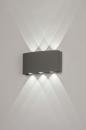 Wandlamp 13813: design, modern, metaal, grijs #1