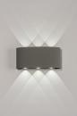 Wandlamp 13813: design, modern, metaal, grijs #2