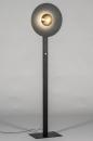 Vloerlamp 13851: design, modern, messing, geschuurd #1
