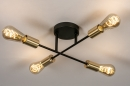 Plafondlamp 13857: industrie, look, modern, retro #2