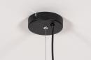 Hanglamp 13860: modern, retro, eigentijds klassiek, metaal #13