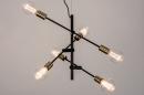 Hanglamp 13860: modern, retro, eigentijds klassiek, metaal #2