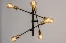 Hanglamp 13860: modern, retro, eigentijds klassiek, metaal #4